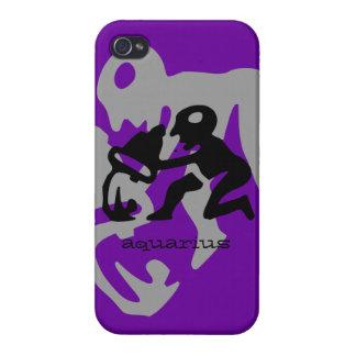 Aquarius in black iPhone 4/4S case
