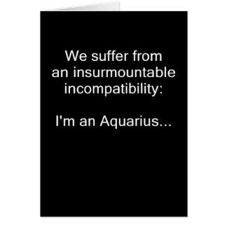Aquarius Incompatibility Card