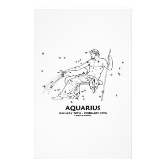 Aquarius (January 20th - February 18th) Stationery Paper