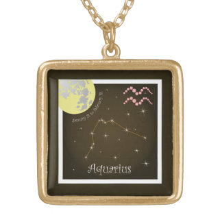Aquarius January 21 tons of February 18 necklace
