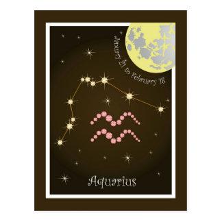 Aquarius January 21 tons of February 18 postcard