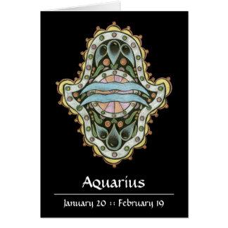 Aquarius Khamsa Note Card