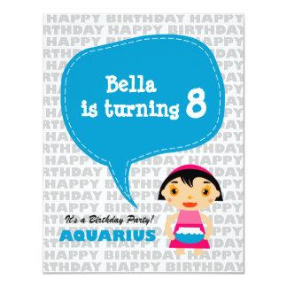 Aquarius Kids Party Invitation