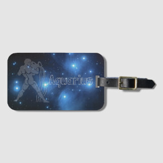 Aquarius Luggage Tag