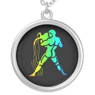 Aquarius Round Pendant Necklace