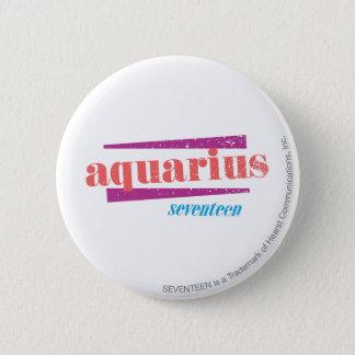 Aquarius Pink 6 Cm Round Badge