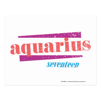 Aquarius Pink Postcard