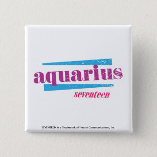 Aquarius Purple 15 Cm Square Badge