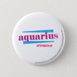 Aquarius Purple 6 Cm Round Badge