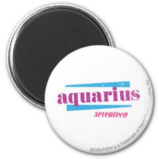 Aquarius Purple 6 Cm Round Magnet