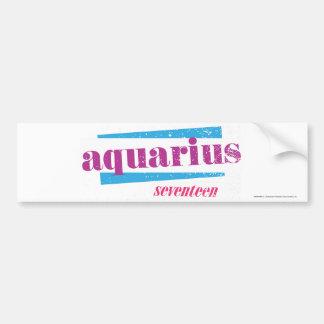 Aquarius Purple Bumper Sticker