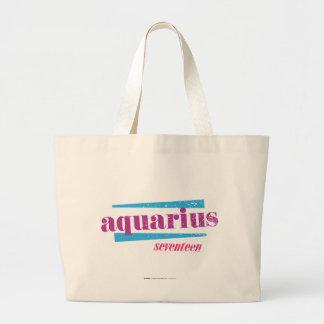 Aquarius Purple Large Tote Bag