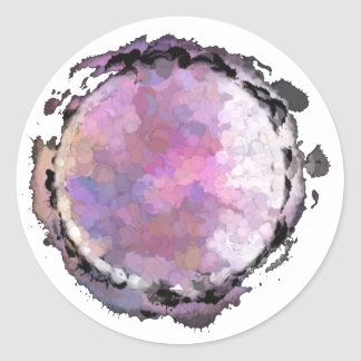 Aquarius Purple Moon Sticker