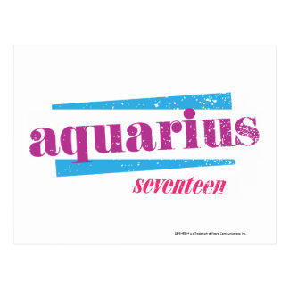 Aquarius Purple Postcard