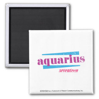 Aquarius Purple Square Magnet