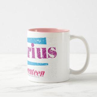 Aquarius Purple Two-Tone Coffee Mug