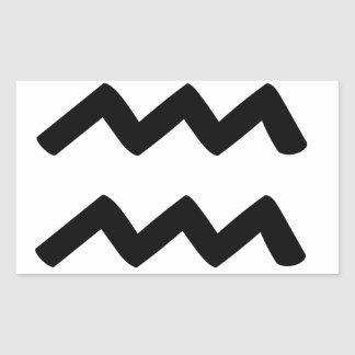 Aquarius Rectangular Sticker