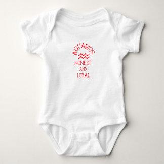 Aquarius (Red Text) Baby Bodysuit