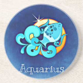 Aquarius Sandstone Coaster