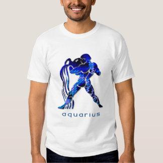 Aquarius Sign Ladies Blue T-Shirt