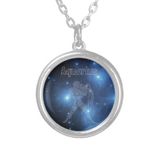 Aquarius Silver Plated Necklace
