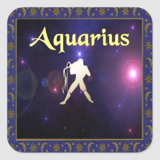 Aquarius Square Sticker