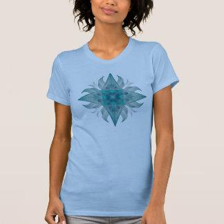 Aquarius Star Aqua Fractal Tee Shirts