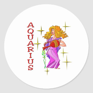 Aquarius (stars) classic round sticker