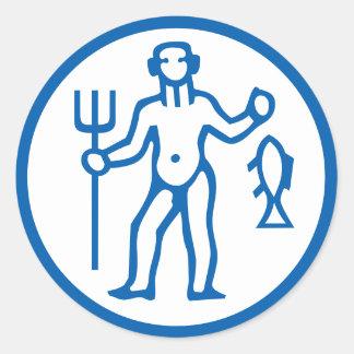 Aquarius Symbol Horoscope Zodiac Sign Stickers