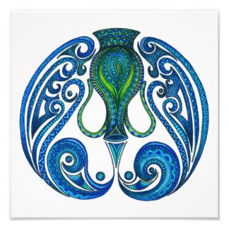 Aquarius Symbol Photographic Print