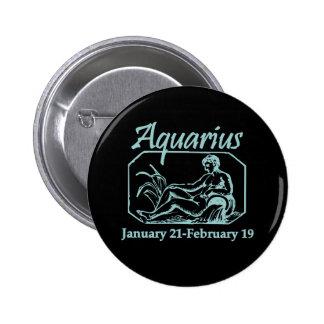 Aquarius Teal 6 Cm Round Badge
