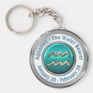Aquarius - The Water Bearer Astrological Sign Key Ring