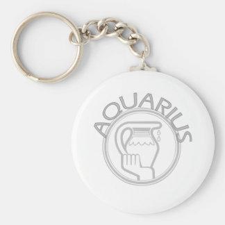 Aquarius The Water Bearer Basic Round Button Key Ring