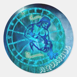Aquarius the Water Bearer Classic Round Sticker