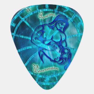 Aquarius the Water Bearer Horoscope Guitar Pick