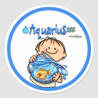 Aquarius - The Water Bearer Round Sticker