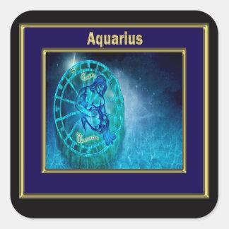 Aquarius the Water Bearer Square Sticker