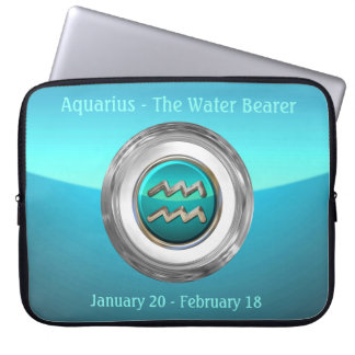 Aquarius - The Water Bearer Zodiac Sign Laptop Sleeve