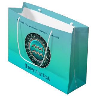 Aquarius - The Water Bearer Zodiac Sign Large Gift Bag