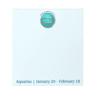 Aquarius - The Water Bearer Zodiac Sign Notepad