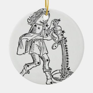Aquarius (the Water Carrier) an illustration from Christmas Ornament