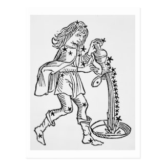 Aquarius (the Water Carrier) an illustration from Postcard