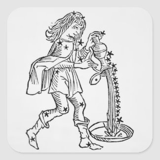 Aquarius (the Water Carrier) an illustration from Square Stickers