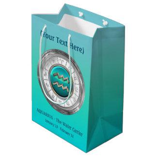Aquarius - The Water Carrier Zodiac Sign Medium Gift Bag