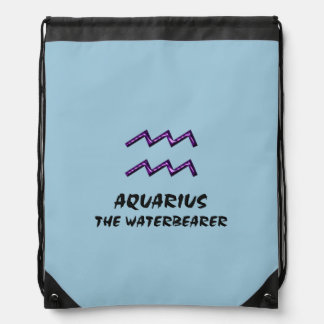 Aquarius the waterbearer drawstring bag