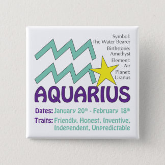 Aquarius Traits Button