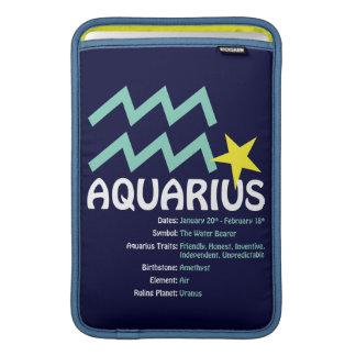Aquarius Traits Case MacBook Sleeve