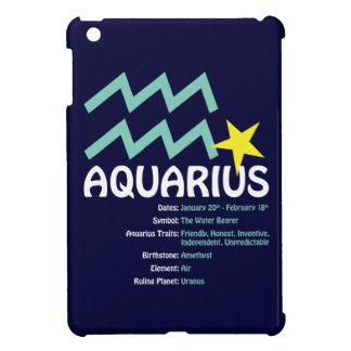 Aquarius Traits Dark iPad Case