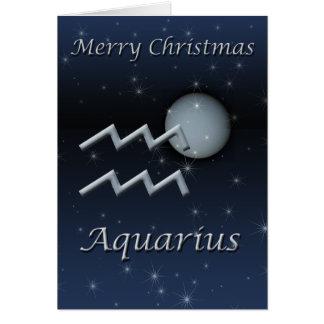 Aquarius Uranus Christmas Greeting Card