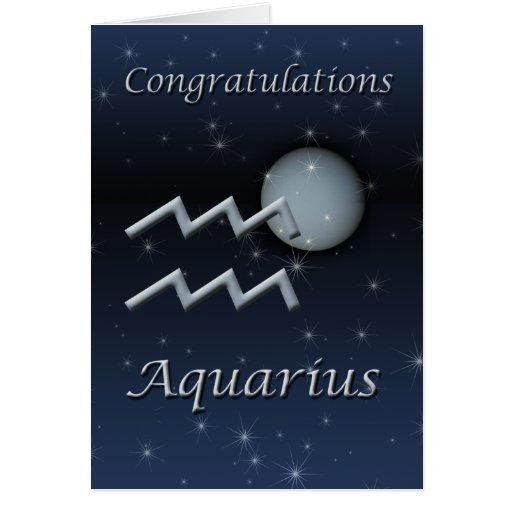 Aquarius Uranus Congratulations Greeting Card
